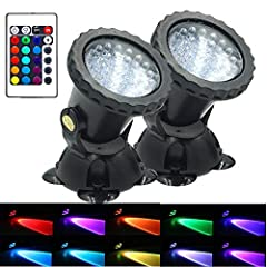 36 bright led bulbs: theres underwater spot lights present a beautiful effect when lighting up the water fountain,swimming pool,garden or pond; Adopt advanced inject molding engineering plastic ABS material, durable, environmentally friendly. Upgrate...