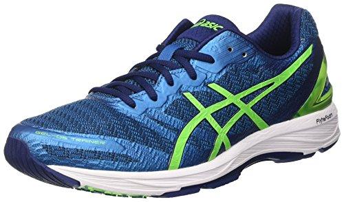 ASICS Gel DS Trainer 22, Chaussures de Course pour entraînement sur Route Homme, Bleu (Indigo Green GeckoThunder Blue), 42.5 EU