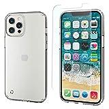 エレコム iPhone 12 Pro Max フィルム/ケース セット ケース ハイブリッド 耐衝撃 クリア PMWA20CHVCCR