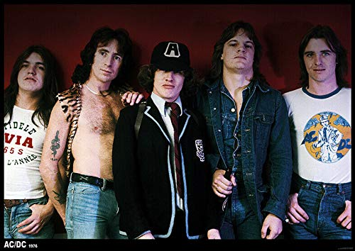 Posterbeatnik AC/DC Poster BANDPICTURE with Dave Evans AUSTRALIEN 1976 T.N.T. LINE UP