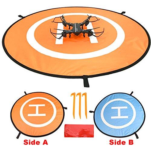 SING F LTD 75X75Cm Drone Launch Pad Landing Helipad Dronepad Compatible with DJI Mavic Phantom 4 3 2 Pro Spark Foldable