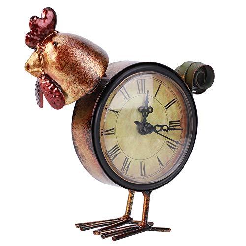 Ichiias Reloj de Mesa, decoración casera Duradera del Arte del Pollo del Ornamento del hogar para la Sala de Estar casera