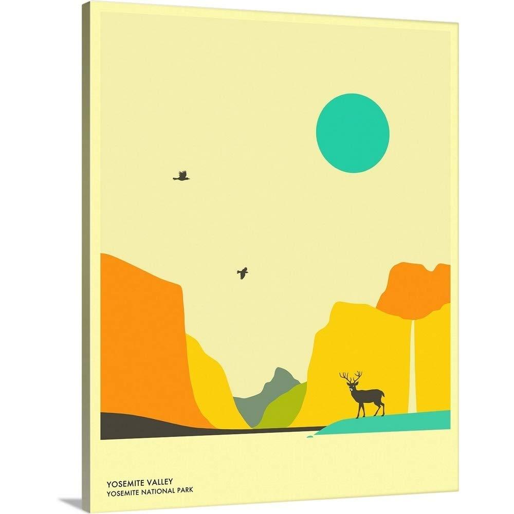 Amazon Com Minimalist Travel Poster Yosemite National Park Canvas Wall Art Print 24 X30 X1 25 Posters Prints