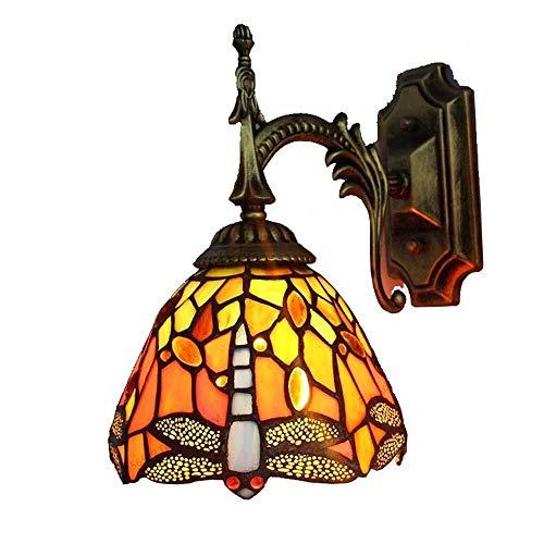 Wandlamp reparatieglas wandlamp wandlamp fixture goede lichtdoorlatendheid binnenverlichting Centro camera glas wandlamp 26x23x17cm Geel