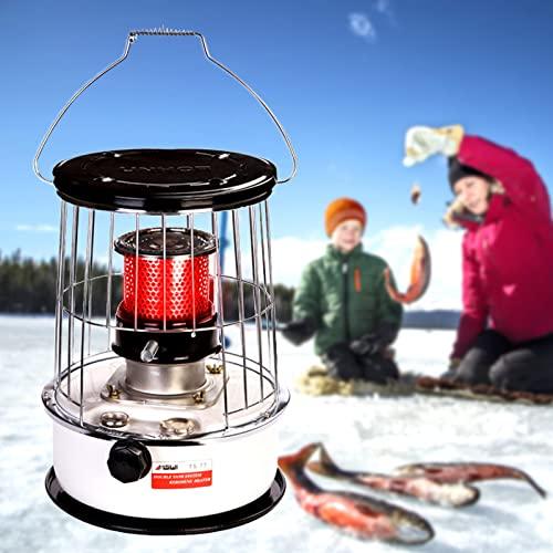 FGHFD Calentador de Estufa de Queroseno - Estufa de Queroseno Portátil de Camping con Mecha y 6L Tanque - para Exterior, Patio, Pesca en Hielo - Calefacción 20-25 Metros Cuadrados de Espacio