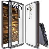 Ringke LG V10 Hülle, Fusion kristallklarer PC TPU Dämpfer (Fall geschützt/Schock Absorbtions-Technologie) für das LG V10 – Rauchschwarz