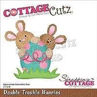 """CottageCutz Dies-Double Trouble Bunnies 3""""X2.8"""""""