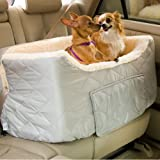 Snoozer Pet Products – Lookout II Dog Car Seat, Large – Grey Quilted