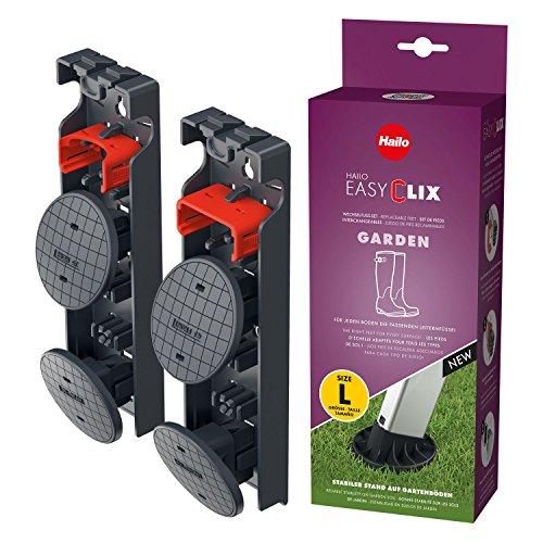 Hailo 9948-001 Outdoor Easy Clix Foot Change System Size L, Schwarz