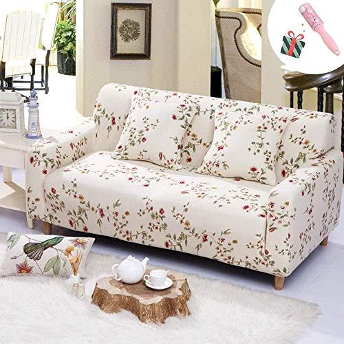 HFTYCC 1-4 Asiento Thicken Sofá Funda elástica para sofá Funda para sofá Funda elástica para sofá con Todo Incluido-4 plazas Flor roja