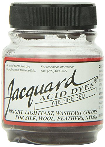 Jacquard Acid Dyes 1/2 Ounce-Fire Red
