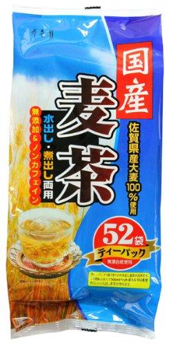 寿老園 国産麦茶 青 52包入 416g×5