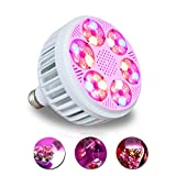 Professional LED Grow Light Bulb 36 Watt 13 Bands Including UV IR,Plant Light for Indoor Plants-Hydroponic Greenhouse Veg/Flower/Herbs - Energy Saving and High Yield Style (36 Watts)