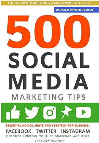 500 Social Media Marketing Tips Essential Advice Hints and Strategy for Business Facebook Twitter product image