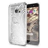 NALIA Handyhülle kompatibel mit HTC 10, Slim Silikon Motiv Hülle Cover Crystal Schutzhülle Dünn Durchsichtig, Etui Handy-Tasche Backcover Transparent Smartphone Bumper, Designs:Artificial Flowers