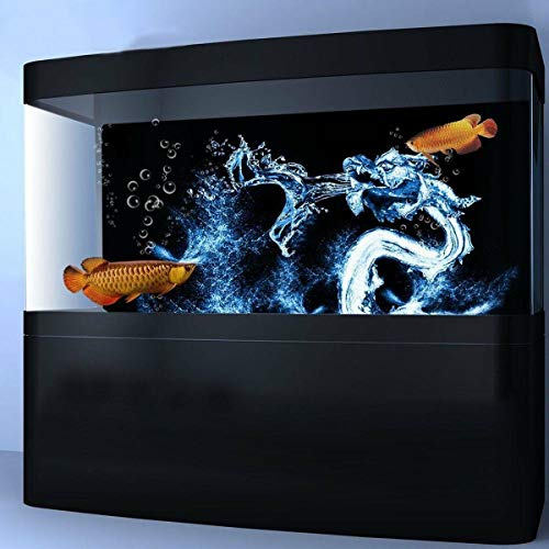 Wasser-Drache-Aquarium-Hintergrund HD-Fisch-Tank-Landschaft-Fisch-Tankdekorationen Yixianjiacheng (Color : 122 * 46cm)