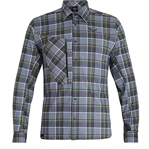 Salewa 00-0000027439_453 Chemise Homme M Grisaille/Ombre/Wh FR: L (Taille Fabricant: 50/Large)