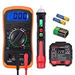VinTeam Voltage Test Kit Digital Multimeter Non-Contact Voltage Tester Pen and Socket Tester Outlet Tester Electrical Test Kit Voltage Detector with LED Flashlight