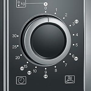 SEVERIN MW 7874 2-in-1 Mikrowelle (700 W, mit Grillfunktion, Inkl. Grillrost und Drehteller, Ø 24,5 cm) edelstahl/schwarz
