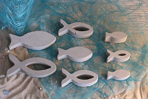Beton Fische Set | Tischdeko | Maritime Deko | Kommunion | Taufe