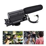 Micrófono de cámara, micrófono de video, accesorios de cámara Micrófono de condensador Micrófono de cámara para cámaras Nikon DSLR