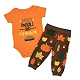 Unique Baby Boys Turkey Football Pie My 1st Thanksgiving Outfit (3 Months) Brown