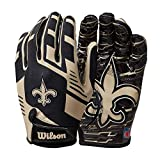 Wilson NFL Stretch Fit Football Gloves - New Orleans- Adult