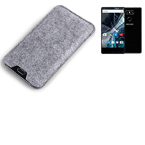 K-S-Trade® Filz Schutz Hülle Für Archos Sense 55 S Schutzhülle Filztasche Filz Tasche Hülle Sleeve Handyhülle Filzhülle Grau