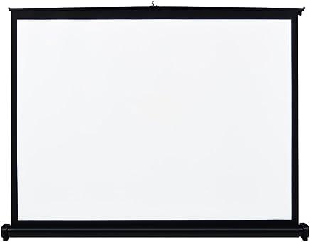 docooler 40 Pulgadas Pantalla de Proyección de Alta Definición Manual de Tirar Hacia Arriba Plegable de Mesa Relación de Aspecto 4: 3 Pantalla Proyección Portátil para Proyector DLP Proyector Handheld
