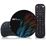 Android 9.0 TV Box 【2G+16G】con Mini Teclado inalámbirco RK3318 Quad-Core 64bit Android TV Box, Wi-Fi-Dual 5G/2.4G, BT 4.0, 4K*2K UHD H.265, USB 3.0 Smart TV Box
