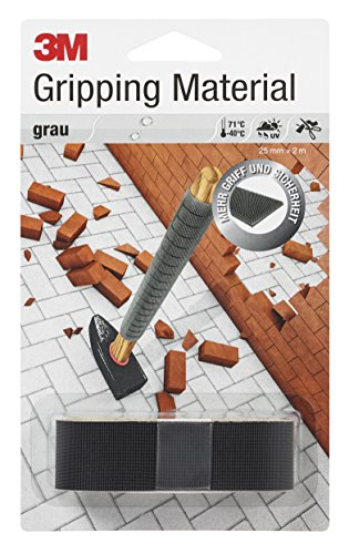 3M Gripping Material, 25 mm x 2 m, Grau (1-er Pack)