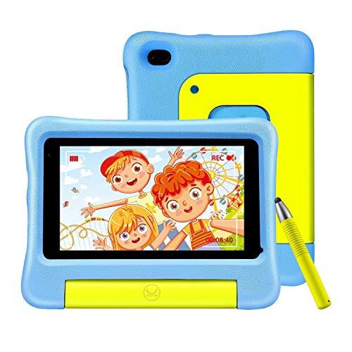 vankyo S7 Kinder Tablet 7 Zoll, 2GB RAM, 32GB ROM, 5MP Kamera, Tablet Kinder mit Schutzhülle und Stift, Kidoz Vorinstalliert, Elternkontrolle, Ideal für Kinder ab 3 Jahre , blau