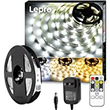 LED テープライト ledテープ 5m 電球色・昼光色 明るさ調整 間接照明 リモコン付き 調光調色 イルミネーションライト カット可能 取付簡単 非防水 店舗 室内 ホーム装飾用 DIY ledテープライト