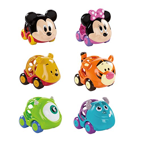 Bright Starts Disney Baby Go Grippers Collection Push Cars from Oball, Ages 12 months Plus