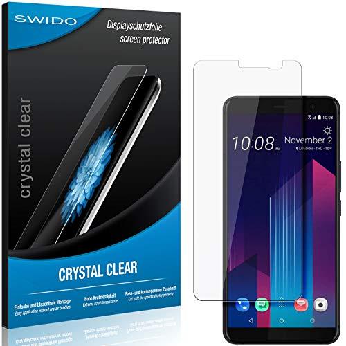 SWIDO Schutzfolie für HTC U11+ [2 Stück] Kristall-Klar, Hoher Festigkeitgrad, Schutz vor Öl, Staub & Kratzer/Glasfolie, Bildschirmschutz, Bildschirmschutzfolie, Panzerglas-Folie