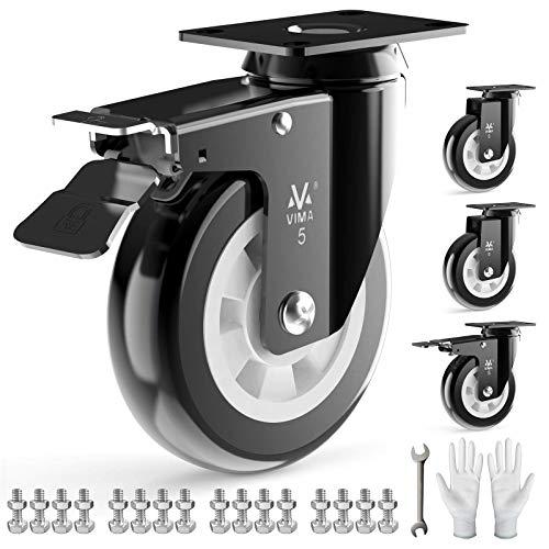 Heavy Duty Plate Caster Wheels 5