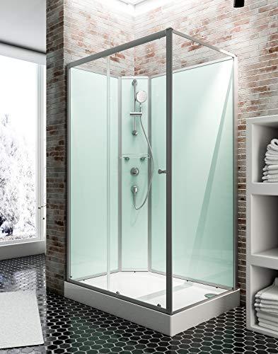 Cabine de douche complète Corsica 120 x 80 cm, cabine...