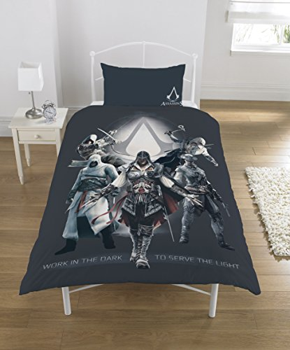 Assassins Creed Bettwäsche-Set, Polycotton, Mehrfarbig