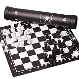 WINON Ajedrez Conjunto de ajedrez de Viaje Tablero de Cuero portátil Chessman Chess Puzzle Familia Familia Internacional Ajedrez Niño Adultos Ajedrez 51 cm Ajedrez Tablero