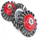 Brosse métallique 10,2cm de roue M14x 100mm meuleuse d'angle Retirer la...