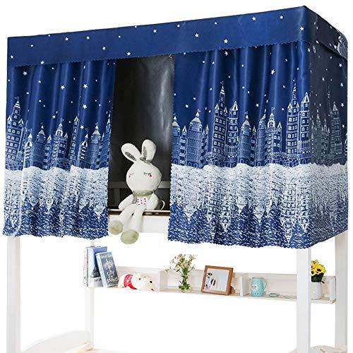 Cortina de cama superpuesta para cabina de tela gruesa, mosquitera, cortina de cama, mosquitera, cubrecamas, cortina opaca para dormitorio, estudiante o colegios