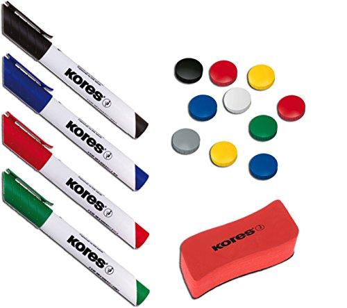 8 Stk Magnet Stifte Schnelltrocknend Set Bunt Magnetisch Whiteboard Marker Neuer