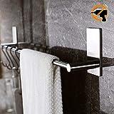 Kitlit Handtuchhalter Bad 43CM Handtuchstange Handtuchständer Wasserdicht Edelstahl Handtuchhaken Badetuchstange Selbstklebend ohne Bohren Küchen Hängeleiste Spültuchhalter Wand Handtuchhalter