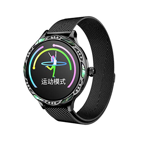 ZGNB M9 Reloj inteligente para mujer con recordatorio de periodo menstrual a prueba de agua, frecuencia cardíaca, pulsera de fitness móvil, aplicación Android iOS, F