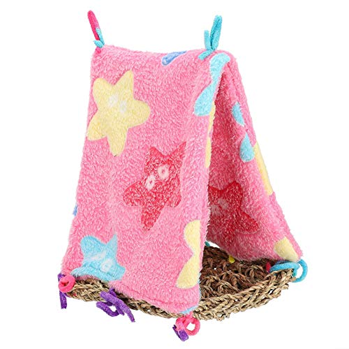 Annjom Hamaca para Loros, Hamaca Triangular para Mascotas, para hámsteres Loros(Starfish Powder)