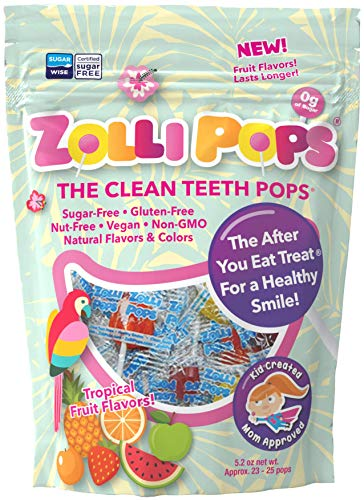 Zollipops Clean Teeth Lollipops, Tropical Flavors, 10.4 Ounce