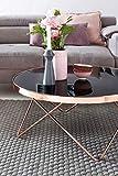 FineBuy Couchtisch FB45659 Glas ø 82 cm Metall Wohnzimmertisch Modern   Glastisch Rund Sofatisch Wohnzimmer Schwarz   Moderner Coffee Table mit Glasplatte   Kleiner Runder Design Kaffeetisch - 6