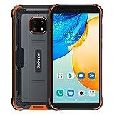 【2021】IP68 Rugged Smartphone 4G, Blackview BV4900 Pro Android 10 Cellulare Robusto, 4GB RAM 64GB ROM Espansione 256GB, Fotocamera Impermeabile 5MP+13MP, Doppia SIM GPS NFC, Batteria 5580mAh Arancia