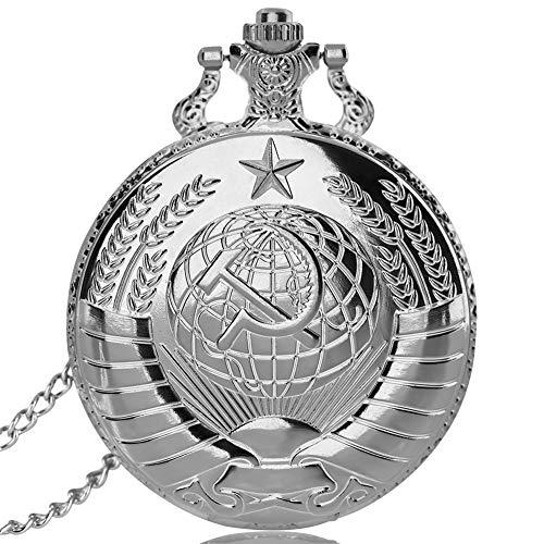 Sowjetische Taschenuhr, Russische Stilkultur Pendant Halskette, Geschenke für Männer Frauen