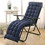 DUCHEN - Cojín grueso y largo para tumbona reclinable con respaldo, colchoneta para sillas de...